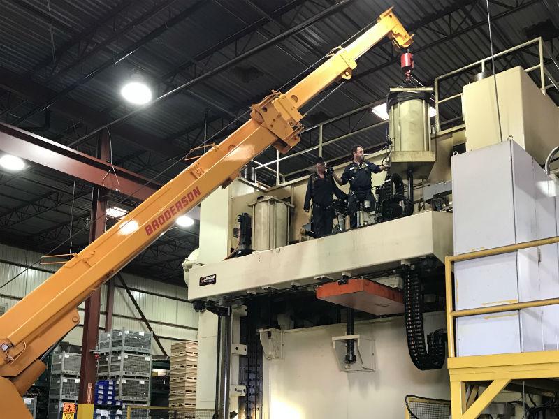 1200 ton counterbalance repair